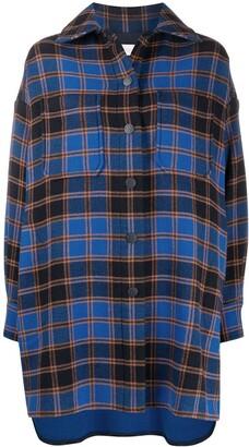 See by Chloe Oversized Plaid Shirt Coat