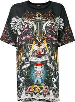 DSQUARED2 abstract print T-shirt - women - Viscose - XS