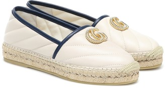 Gucci Double G quilted leather espadrilles