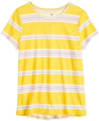 So Girls 4-20 & Plus Size SO High-Low Tee