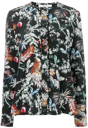 Derek Lam 10 Crosby Wallpaper Floral Print Blouse