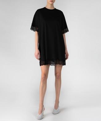Atm Lace Detail Mini Dress - Black