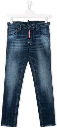 DSQUARED2 TEEN skinny-fit washed jeans