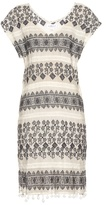 Velvet by Graham & Spencer Yandel geometric-embroidered cotton dress