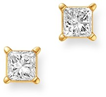 Bloomingdale's Diamond Princess-Cut Solitaire Stud Earrings in 14K Yellow Gold, 0.75 ct. t.w. - 100% Exclusive