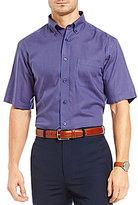 Daniel Cremieux Signature Non-Iron Mini-Check Short-Sleeve Woven Shirt
