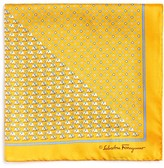 Salvatore Ferragamo Split Elephant/Floret Print Pocket Square