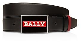 Bally Men's Plaque Reversible Leather Belt