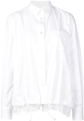 Sacai Lace Trim Drawstring Shirt
