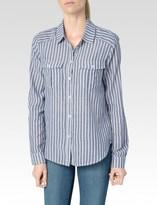 Paige Mable Shirt - Dark Denim/White Caldwell Stripe