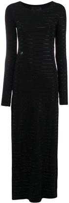 Philipp Plein Side Slit Maxi Dress