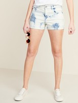Old Navy Mid-Rise Tie-Dyed Boyfriend Jean Shorts for Women -- 3-inch inseam