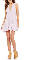 Free People Smooth Sailing Keyhole Mini Dress