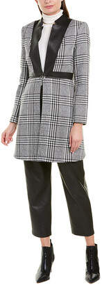 BCBGMAXAZRIA Plaid Coat