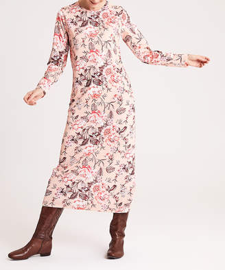 Simmly Women's Casual Dresses Pink - Pink & White Floral Maxi Dress - Women