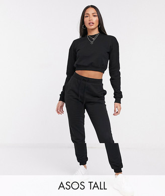 Asos Tall ASOS DESIGN Tall tracksuit hoodie / slim trackie with tie in organic cotton