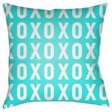 Surya XO Print Throw Pillow