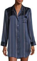 Neiman Marcus Dot-Print Silk Sleepshirt