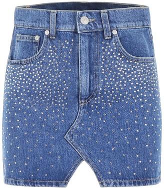 Chiara Ferragni Embellished Denim Mini Skirt