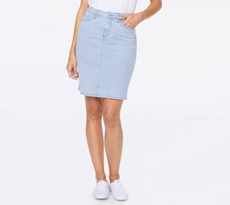 NYDJ Five-Pocket Denim Skirt