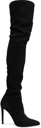 Sergio Rossi Stretch-suede Thigh Boots