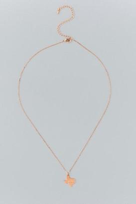 francesca's Texas Pendant Necklace in Rose Gold - Rose/Gold