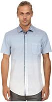 BOSS ORANGE Eslimye Slim Fit Short Sleeve Shirt in Degrade Print