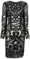 Emilio Pucci fully embroidered silk dress