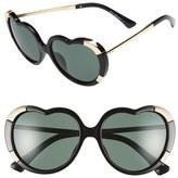 A. J. Morgan A.J. Morgan 'Heartstomper' 58mm Heart Shaped Sunglasses