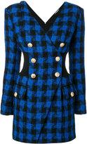 Balmain fitted tartan dress