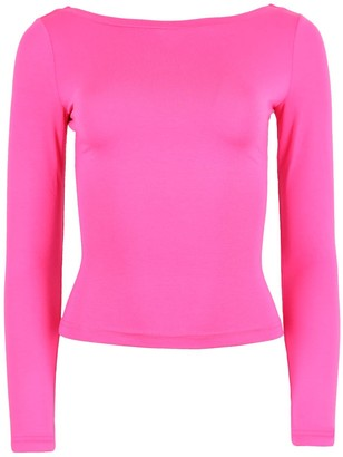 Blonde Gone Rogue Twisted Back Blouse - Pink