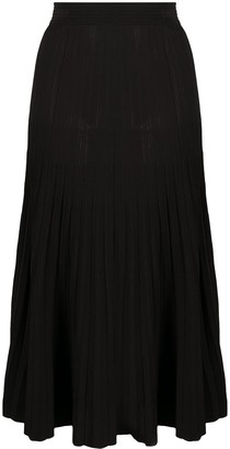P.A.R.O.S.H. High-Waisted Pleated Skirt