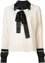 Sonia Rykiel shirt underlay jumper - women - Cashmere/Virgin Wool - M
