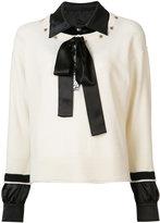 Sonia Rykiel shirt underlay jumper - women - Cashmere/Virgin Wool - S