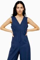 Topshop Blue Classic Jumpsuit