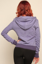 Miss Me Studded Knit Zip Up Hoodie
