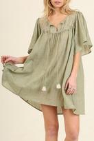 Umgee USA Lace Neckline Dress