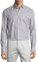 Eton Abstract-Print Sport Shirt, Gray Pattern