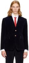 Thom Browne Navy Corduroy Classic Blazer