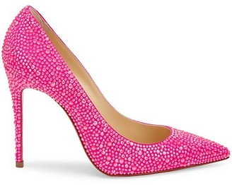 Christian Louboutin Kate 100 Strass Leather Pumps