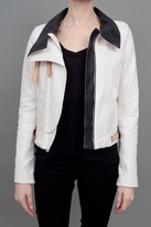 A.L.C. Shaw Leather Jacket White
