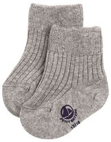 Unisex baby plain ribbed cotton socks