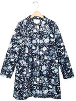 Gucci Girls' Lightweight Floral Print Coat w/ Tags