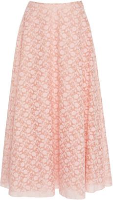 Giambattista Valli Floral-Jacquard Midi Skirt