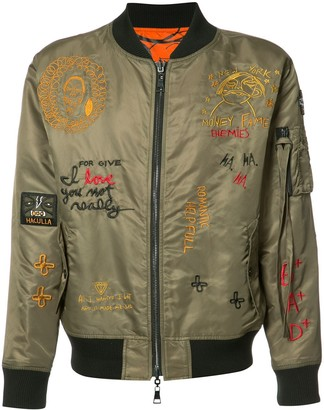 Haculla Embroidered Reversible Bomber Jacket