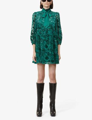 Alice + Olivia Octavia jacquard mini dress