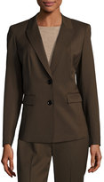 Lafayette 148 New York Blake Single-Button Jacket, Espresso