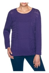 Alfred Dunner Women's Mixed Stitch Patchwork