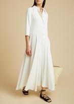 KHAITE The Katie Dress in Ivory