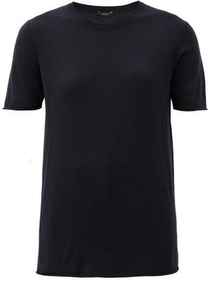 Joseph Cashair Rolled-edge Cashmere-jersey T-shirt - Black